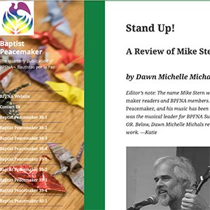 Baptist Peacemaker Mike Stern Stand Up! Review